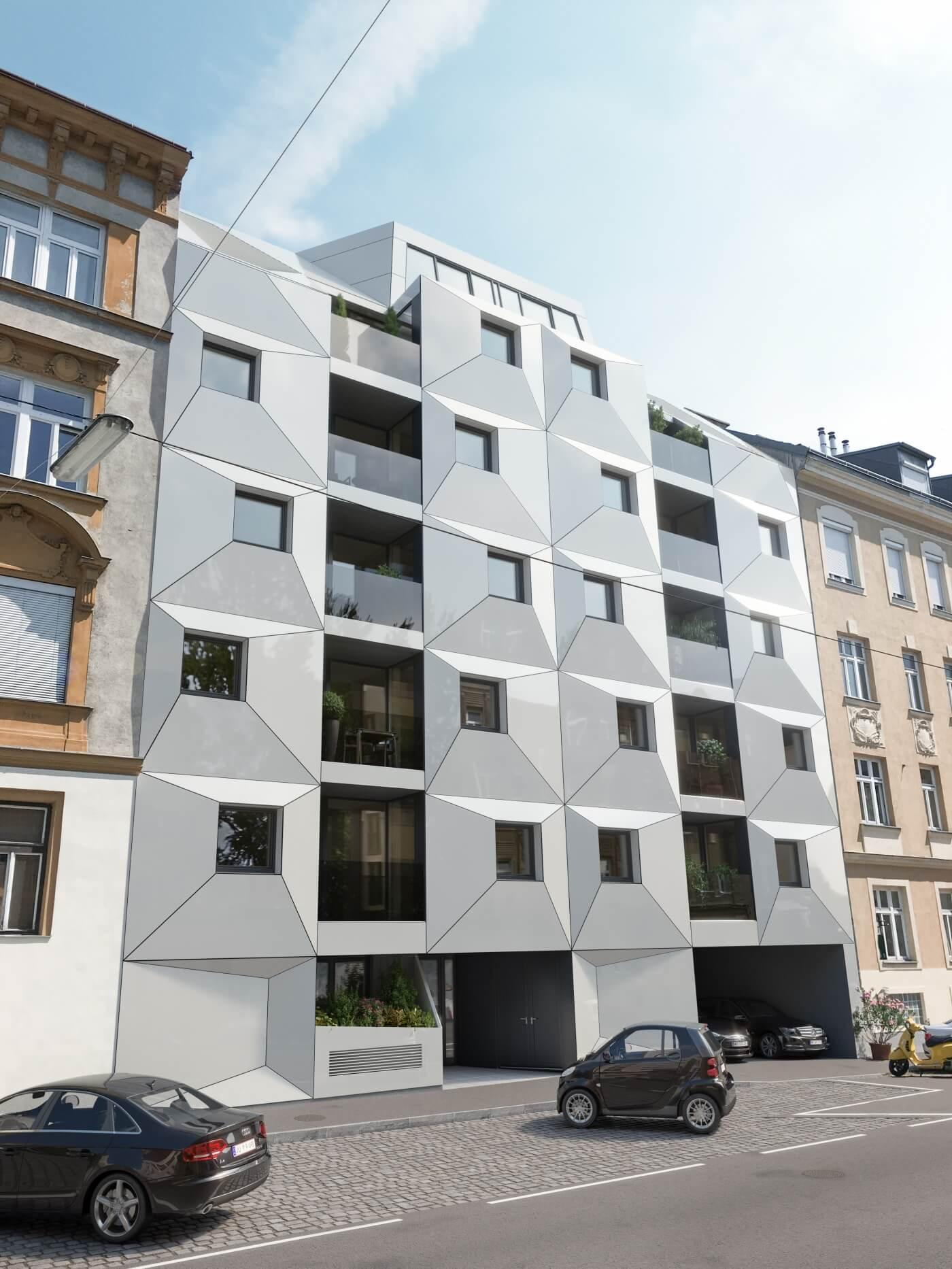 Neubauprojekt Penthouse Anlegerwohnungen Eigentumswohnungen Albrechtskreithgasse 38